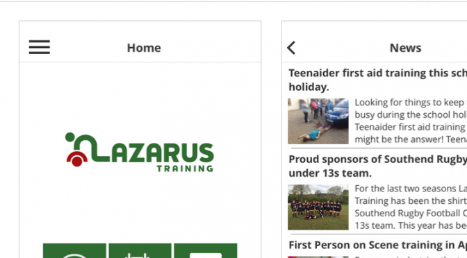 Lazarus Training app is available for your phone!